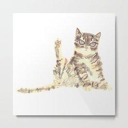 Cheeky Kitty Cat Metal Print