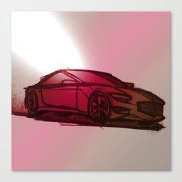 Sports Car Sketch Canvas Print