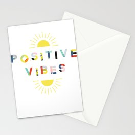 Positive Vibes Shirt Women Men Youth Spread Positivity Only Stationery Cards