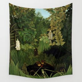 """Henri Rousseau """"Merry jesters"""", 1910 Wall Tapestry"""