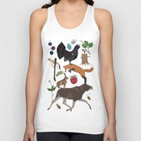 woodland Tank Tops featuring Woodland by Emma Jansson