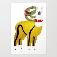 alpaca Art Prints featuring Alpaca by Mariia Komatsu