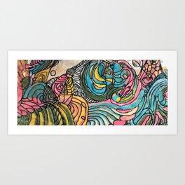 Clamshell Seaweed Art Print