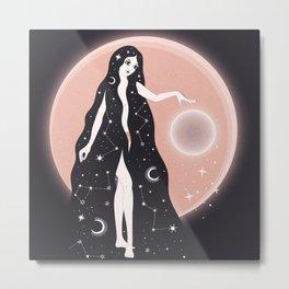 Priestess, Bohemian Psychedelic Metal Print
