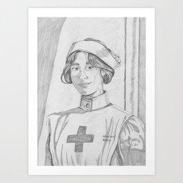 Nurse pencil sketch Art Print