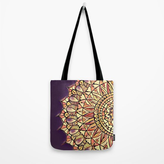 Bloom Mandala in Plum Tote Bag