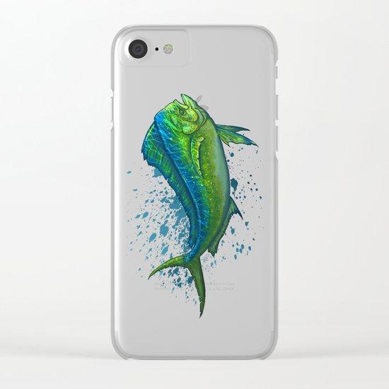 """""""El Dorado"""" ~ Mahi Mahi / Dolphin Fish Clear iPhone Case"""