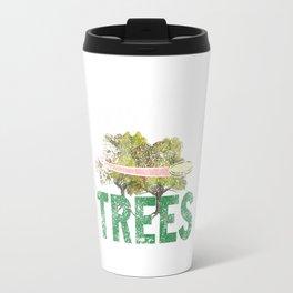 Splittin' Trees Funny Distressed Disc Golf Travel Mug