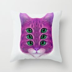 FUCKUCATZ Throw Pillow