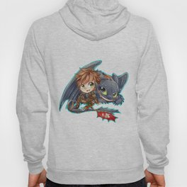 Httyd 2 - Chibi Hiccup and Toothless Hoody