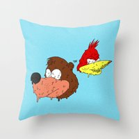 banjo Throw Pillows featuring Banjo by Nate Galbraith