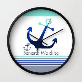Beneath We Cling: White Wall Clock