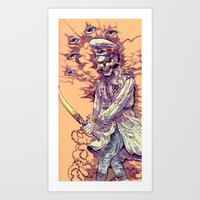 occult Art Prints featuring Occult Trench by Witnesstheabsurd