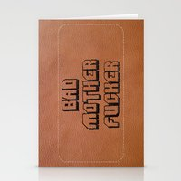 wallet Stationery Cards featuring Bad Motherfucker iPhone case by Nicklas Gustafsson