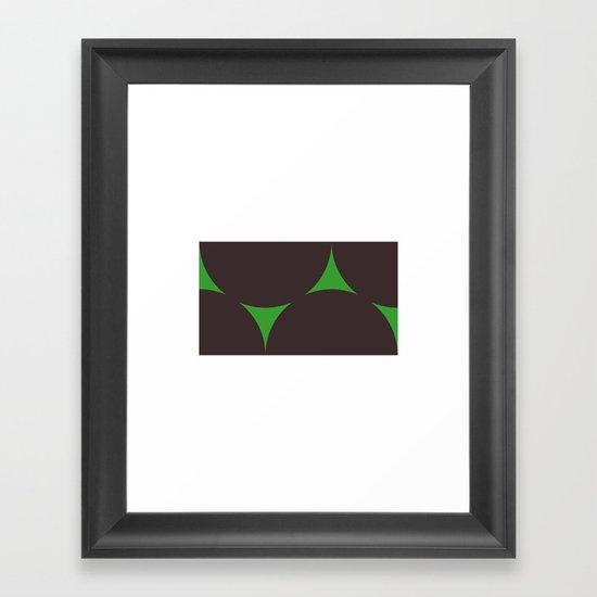 #210 Dark matter – Geometry Daily Framed Art Print