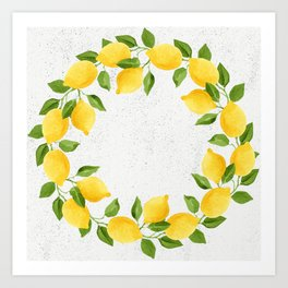 Watercolor Lemons Art Print