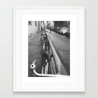 bikes Framed Art Prints featuring Bikes by Shalyn Dawn