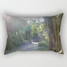 Path through the forest (sun over the trees) Rectangular Pillow