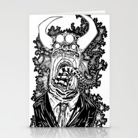 abyss Stationery Cards featuring Abyss by Shahbab