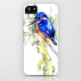 Kingfisher on the Tree iPhone Case