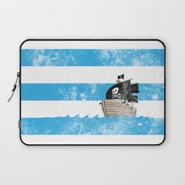 Pirates Love Stripes Laptop Sleeve