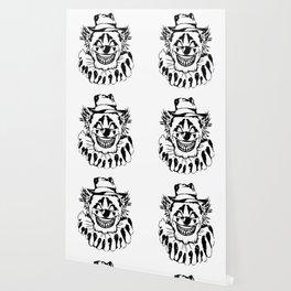 Black and white Evil Clown Wallpaper