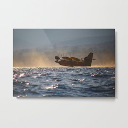 fire-fighting plane canadair Metal Print