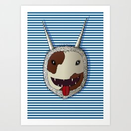 Traditional carnival mask Art Print
