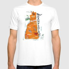 NEW HAMPSHIRE MEDIUM Mens Fitted Tee White