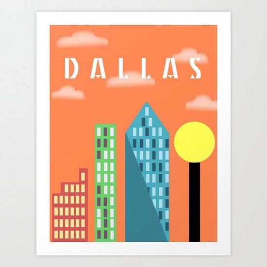 Urban City Dallas Art Print