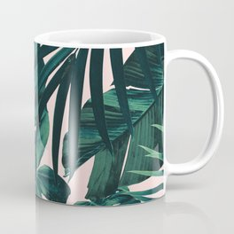 Tropical Jungle Leaves Pattern #5 #tropical #decor #art #society6 Coffee Mug