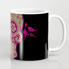 Sugar Skull Green and Pink Coffee Mug