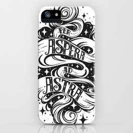 Per Aspera Ad Astra iPhone Case