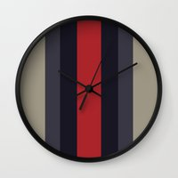 gucci Wall Clocks featuring Gucci and Me by Brown Eyed Lady