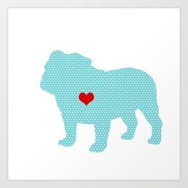 English Bull Dog Art Art Print