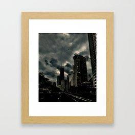 Moody Lake Shore Drive Framed Art Print