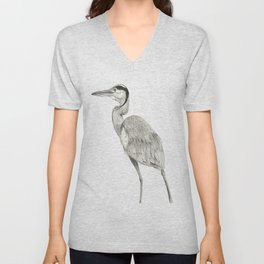 Great Blue Heron Unisex V-Neck