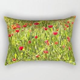 Flanders Poppies Rectangular Pillow