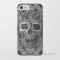 ali iPhone & iPod Cases featuring Lace Skull by Ali GULEC