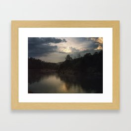 Sunset at C&O Canal Framed Art Print