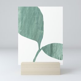 Seedling Leaning Right - Green Botanical Watercolor Painting Mini Art Print