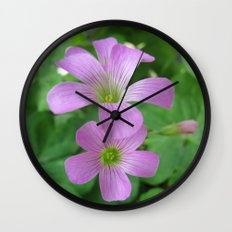 INDIA - Purple Flowers Wall Clock