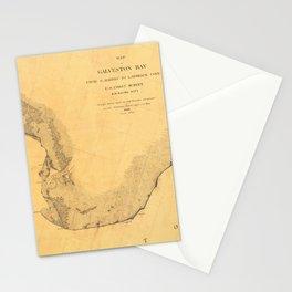 Map of Galveston Bay 1851 Stationery Cards