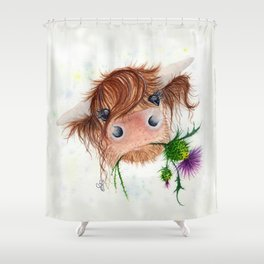 Thistle MacKenzie-McMoo by Fiona Bárcenas Shower Curtain