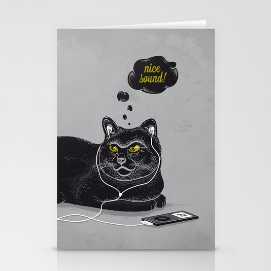 Chilling Cat Stationery Cards