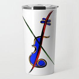 Fidlessia - half-coloured instrument Travel Mug