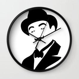 Hercules Poirot Wall Clock