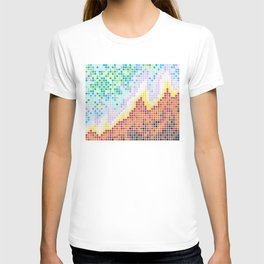 Pixelated Nebula Red T-shirt