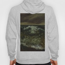 """Gustave Courbet """"The Wave 1869-1870 Dallas"""" Hoody"""