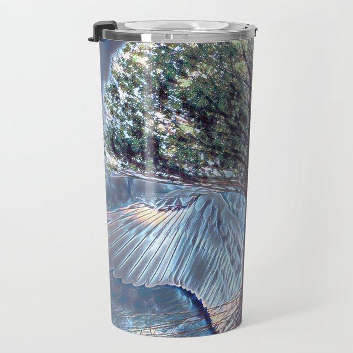 Tree of Life with Angel Wings Travel Mug
